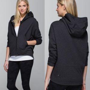 Lululemon Hold Your Om Hoodie Jacket Size 12 Grey